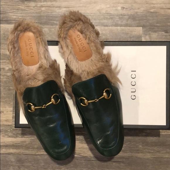 Gucci Fur Slides